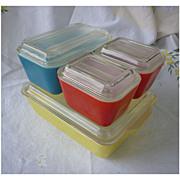Pyrex Primary Colors Leftovers Refrigerator 8 Piece Set