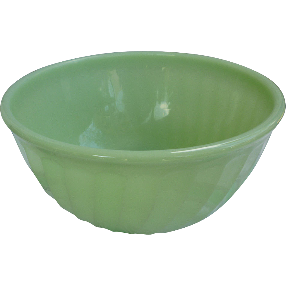 Fire King Jadeite Swirl 9 Inch Nesting Mixing Bowl Sold On