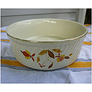 Hall Jewel Tea Autumn Leaf 8 inch Casserole or Souffle Dish
