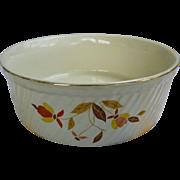 Hall Jewel Tea Autumn Leaf 8 inch Casserole or Souffle Dish