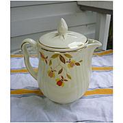 Hall Jewel Tea Autumn Leaf Coffee Pot with Lid
