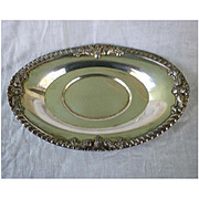 Ornate Oval Silver Plate Serving Platter Marked