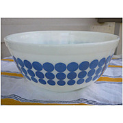 Pyrex New Dots Blue Beaded Edge Nested Mixing Bowl 403 2 ½ Qt