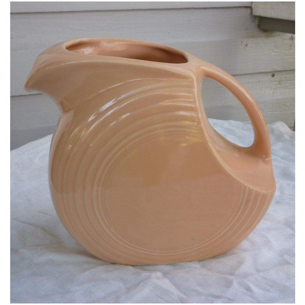 New Fiesta Apricot Large Disc Pitcher