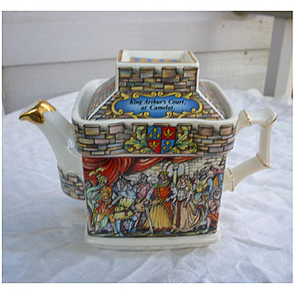 King Arthur's Court at Camelot and Sir Lancelot Knight of the Round Table Sadler Teapot