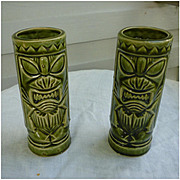 Orchids of Hawaii R-5 Green Ku Vintage Tiki Mug