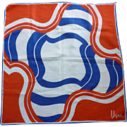 Vintage Vera Pop Art Red White and Blue Scarf