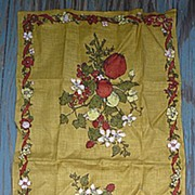 Luther Travis Rose Hips and Berries Linen Towel