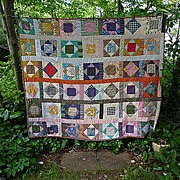 This and That Pattern Vintage Patchwork Quilt