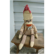 Vintage Hand Made Rockford Red Heel Sock Monkey Beulah