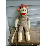 Vintage Hand Made Rockford Red Heel Sock Monkey Bruce