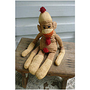 Vintage Hand Made Rockford Red Heel Sock Monkey Ivan