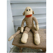 Vintage Hand Made Rockford Red Heel Sock Monkey Ben