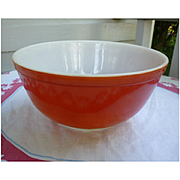 Pyrex Red Beaded Edge Nested Mixing Bowl 403 2 ½ Qt