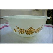 Pyrex Butterfly Gold 1 Pattern 1 1/2 Pint Cinderella Mixing Bowl 441
