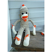 Vintage Hand Made Rockford Red Heel Sock Monkey Billy