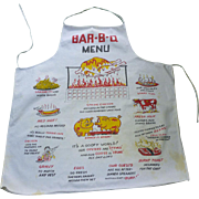 Vintage 50's Novelty BBQ Chef's Apron
