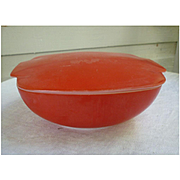 Red Square Covered Pyrex Hostess Casserole