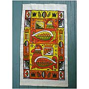 Georges Briard Modern Roosters Print Kitchen Towel.
