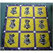 Baltimore Ravens Fabrics Sunbonnet Sue Pattern Quilt
