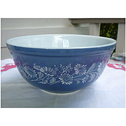 Pyrex Colonial Mist Mixing Bowl French Daisy Blue Bowl 403