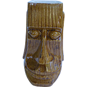Signed Johnny Sens Smiling Moai Tiki Mug New Orleans 1960s