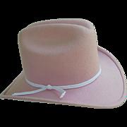 Pink Eddy Bros Wool Felt Cowgirl Hat