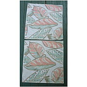Set of 2 Vera Neumann Large Leaves Print Napkins