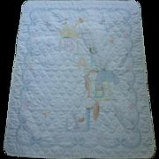 Charming BABY Alphabet Blocks Cross Stitch Child's Quilt