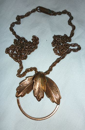 Bell Trading Post Copper Leaf Pendant Necklace
