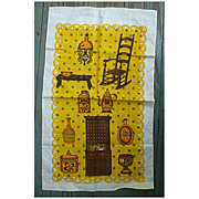 Old Fashioned Kitchen with Rocking Chair Vintage Dish Towel