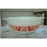 Pyrex Friendship Pattern 2 1/2 Quart Cinderella Mixing Bowl 443