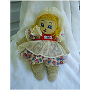 Pretty Little Dutch Girl Stockinet Cloth Doll