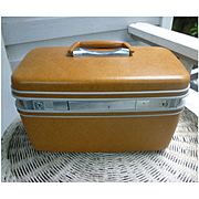 Honey Brown Samsonite Silhouette Make Up Train Case