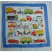 Colorful Novelty Transportation Print Handkerchief