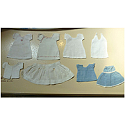Sweet Set of 8 Mommy-made Older Clothes for a Tiny Doll