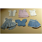 Sweet Set of 6 Mommy-made Older Clothes for a Tiny Doll