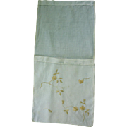Embroidered Linen Handkerchief Bag