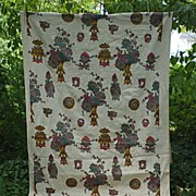 Ming Fantasy Handprint Heavy Linen Decorator Fabric 5 + Yards