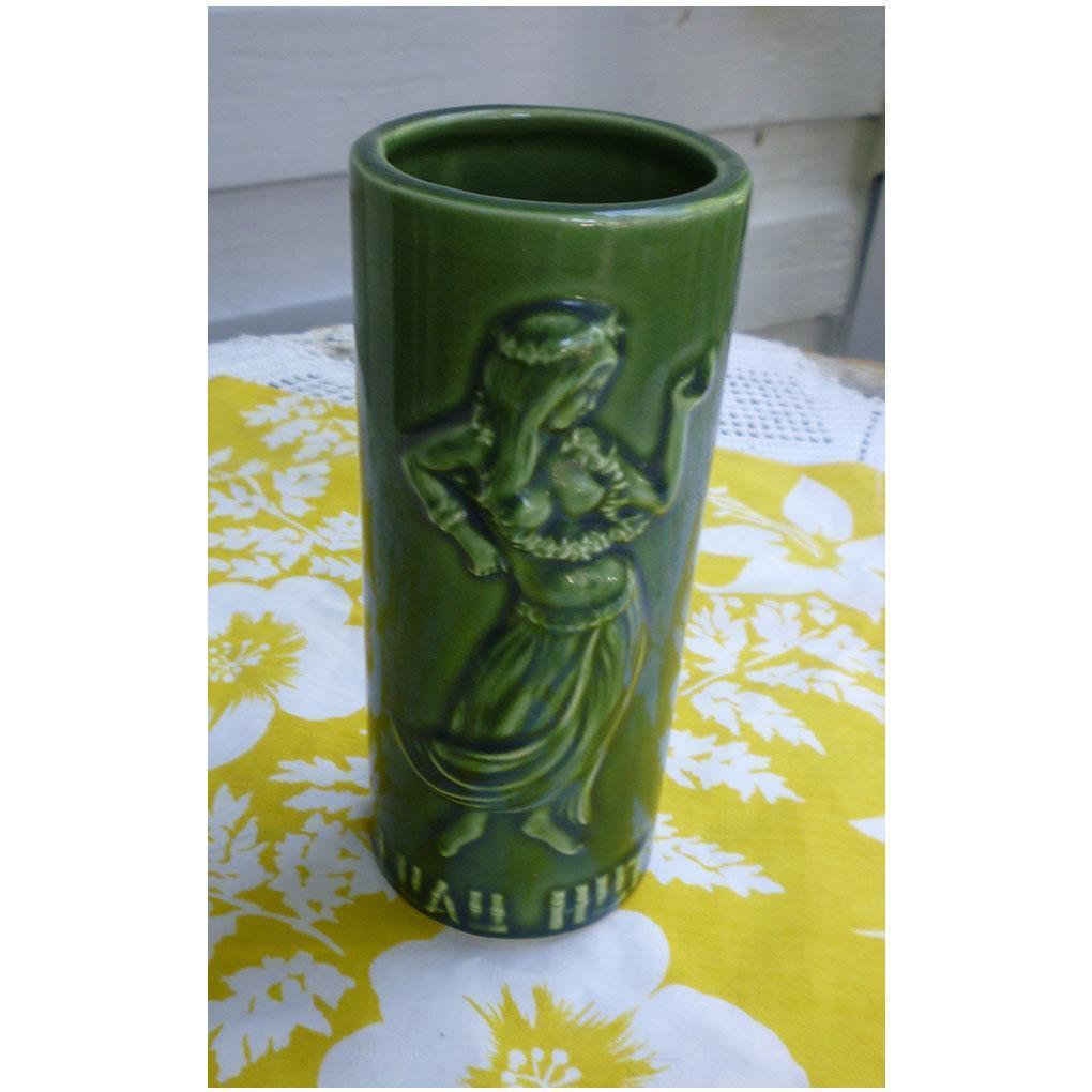 Green Hula Girl Luau Hut Vintage Tiki Mug Silver Spring MD