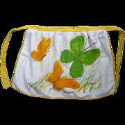 Vintage Vera Terrycloth Apron Butterflies