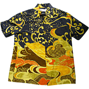 Waltah Clarke's Hawaiian Shop Japanese Wave Print Hawaiian Shirt