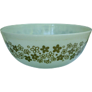 Pyrex Spring Blossom Green Beaded Edge Nested Mixing Bowl 404 4Qt