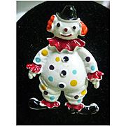 Jolly Clown Colorful Enamel Brooch