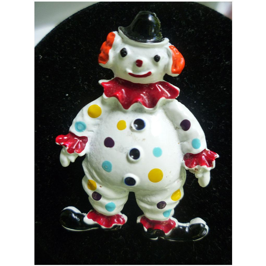 Jolly Clown Colorful Enamel Brooch