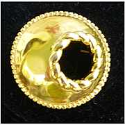 Classic Round Goldtone Brooch by Monet
