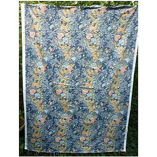 Marianne Floral Pattern Moygashel Screen Print Decorator Fabric