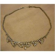 La Rel Vintage Clear Rhinestone Choker Necklace