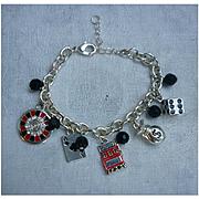 Casino Gambler's Lucky Charm Bracelet