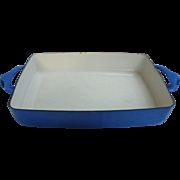 Dansk Kobenstyle Blue Enamelware Roasting Baking Lasagna  Pan